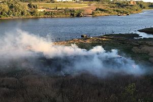 The fire created a large amount of smoke.