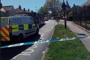 A police cordon is in place in Shiregreen following the deaths of two boys earlier (Pic: Lee Peace)