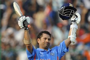 THE GREATEST: India batsman Sachin Tendulkar makes Darren Gough's all-time World Cup team.
