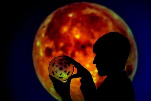 Bradford Grammar School pupil Nick Miller, of Brighouse, with the coveted'Moon rocks