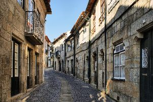 The narrow streets of Vila do Conde.