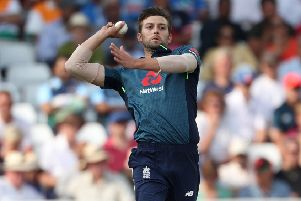 Hoping it is serious?: Pace bowler Mark Wood.