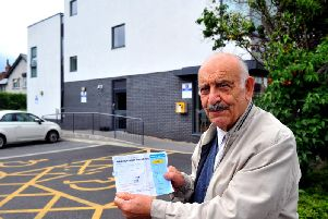90-year-old Emile Clavane has been using the surgery for more than 20 years and received a parking fine when picking up a prescription.
