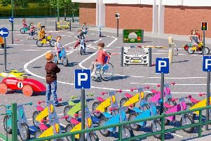 An artist's impression of the new children's role play area at Salt Ayre.