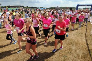 A previous Race For Life at Haydock Park Racecourse