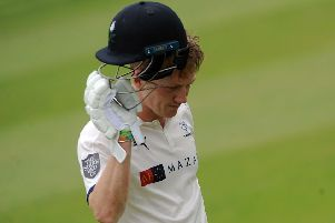 Dom Bess acknowledges the Headingley crowd after making 91 not out for Yorkshire against Essex (Picture: Dave Williams).