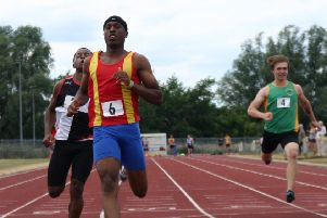 Spenborough AC sprinter Dominic Lamb ran the 100m in 10.81 seconds at the Northern Senior Championships.