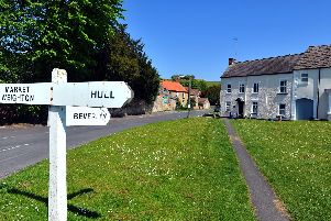 The village green at Newbald. Picture by Gary Longbottom.