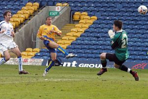 Nathan Arnold in action for Stags against Carlisle United in 2006.