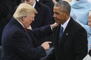 Donald Trump and Barack Obama have pursued opposing policies on dealing with sexual assaults at universities. (Picture: AP Photo/Andrew Harnik)