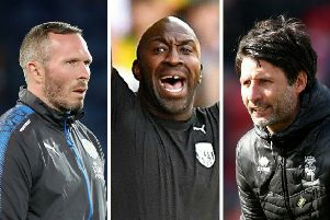 IN THE FRAME: Michael Appleton, left, Darren Moore and Danny Cowley are just three among many candidates to be linked with the vacant Hull City manager's position.