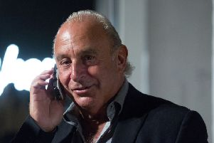 Sir Philip Green at London Fashion Week. Pic: Isabel Infantes/PA Wire