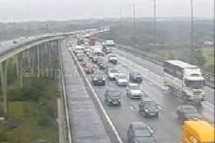 Lanes 3 and 4 have been closed on the M6 northbound between J21 and J21A after a crash this morning
