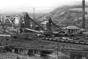 Cadeby colliery from conisbrough castle c1970s.