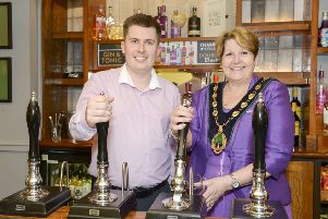 The Ashley'Worksop'Nottinghamshire'General Manager Sam Thorpe and Cllr Debbie merryweather, Chairman of the council