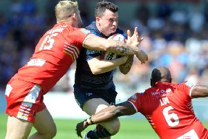 Ryan Lannon, left, is going back to Salford from Hull KR (Picture: Tony Johnson)