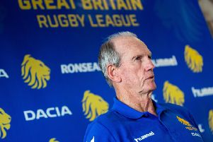 Great Britain head coach Wayne Bennett.