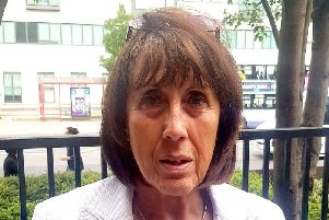 Nicola Leahey who was infected by blood transfusions when she lived in Wigan in the seventies