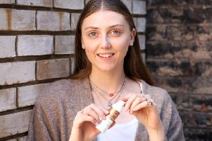 Louisa Northcote uses Science of Skin to help clear up her facial scarring cause by acne. Picture: www.matthewwalkerphotography.com
