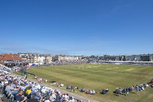 Cricket by the sea: A general view of Scarborough's North Marine Road ground.