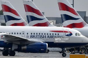 The British Airways flight was travelling from Seattle to Heathrow when it declared an emergency. Photo - Ben Stansall/AFP/Getty Images