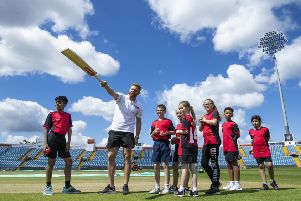 EDITORIAL USE ONLY'English cricketer Jonny Bairstow meets a group of children at Headingley Cricket Ground in Leeds for an exclusive coaching session organised by Yorkshire Tea and national children's cricket charity, Chance to Shine. PRESS ASSOCIATION Photo. Issue date: Saturday June 22, 2019. The event has been organised ahead of Yorkshire Tea National Cricket Week (24th ' 28th) a week which encourages thousands of children to spend more time outside and increase participation in grassroots sport. A recent study by Yorkshire Tea found that just over half of parents regularly encourage children to take part in sport. Photo credit should read: Danny Lawson/PA Wire