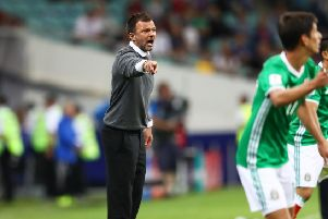 Anthony Hudson, gives instructions as head coach of New Zealand against Mexico  in the FIFA Confederations Cup clash in Sochi, Russia, in June 2017. Picture: Dean Mouhtaropoulos/Getty Images