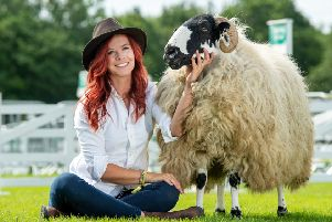 Red Shepherdess Hannah Jackson at the Great Yorkshire Show.