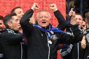 Sheffield United manager Chris Wilder.