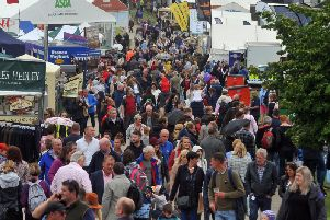 Crowds on day one of the Great Yorkshire Show.