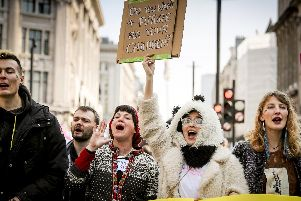 Extinction Rebellion protesters in London earlier this year. (Credit: SWNS)
