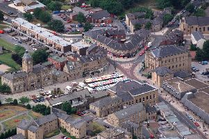An aerial view of Batley as MP Tracy Brabin calls for extra supprot for independent businesses.