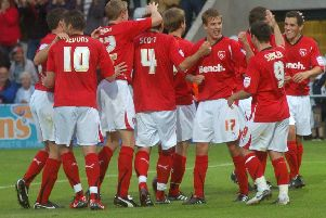 Andy Fleming will go down in history after scoring the first goal at the Globe Arena