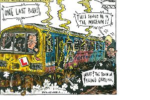Graeme Bandeira's recent cartoons featuring the Pacer trains, Chris Grayling and the Tory leadership contest.