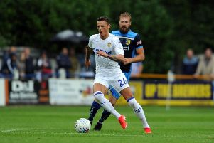 Leeds United loan defender, Ben White. Picture: Tony Johnson.
