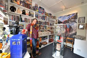 Ian Jackson has opened a comic and collectors shop in Cromford