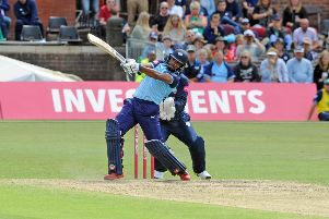 Making his bow: 'Yorkshire's Nicholas Pooran. Picture: Tony Johnson