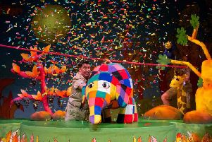 Elmer the Patchwork Elephant is to be brought to life at the Pavilion Theatre in the Winter Gardens Blackpool