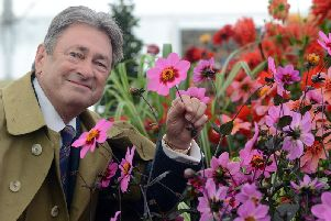 Alan Titchmarsh at the first day at the 2017 RHS Chatsworth Flower Show. Picture by Scott Merrylees