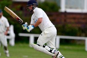 Birstall captain Nick Kaye made a superb 115 to help his side reach the Jack Hampshire Cup Final, where they will meet Yeadon at Liversedge on August 18. Picture: Paul Butterfield