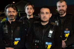Officers from Derbyshire Roads Police.