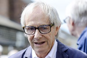 Ken Loach at a blue plaque unveiling for Barry Hines at his former home in Hoyland. Picture by Scott Merrylees.