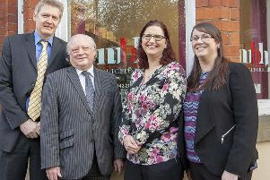 The MBH team: (from left) Paul Ayling, John Petrie, Caroline Rooks, and Gillian Lavelle.