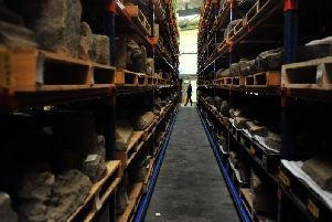 A quarter of a million items are stored in two warehouses on the outskirts of the town