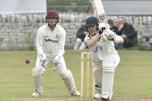 New Farnley opener Adam Waite who scored 97 not out in the Priestley Cup final.