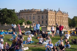 The show takes place in the grounds of Chatsworth House