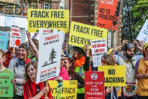 Fracking protests in North Yorkshire. Picture: SWNS