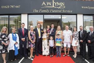 The team at A.W. Lymn The Family Funeral Service after the takeover at Rainworth.
