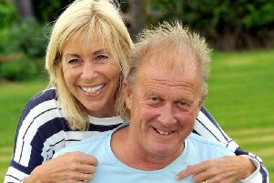 Dave Young with wife Sally at their home in Beeford near Driffield. Mr Young suffered a heart attack at the age of 28, but says the psychological impact has been harder to bear than the physical ones. Picture Gary Longbottom.