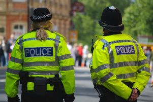A police officer was on hand to arrest a convicted sex offender in Leeds on Saturday